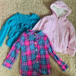 Girls 4t shirts and jacket